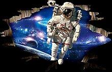 3d - astronauten kinder raum schlafzimmer wohnzimmer wand aufkleber entfernen kann.