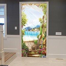 3D Aufkleber 3D Sunny Day Kreative Tür Aufkleber