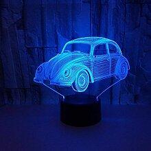 3D Auto Lampe USB Power 7 Farben Amazing Optical