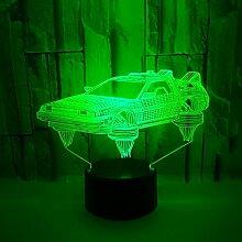 3D Auto Optische Illusions Lampe 7 Farben