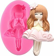 3D Baby Girl Form Kuchen Dekoration Silikon