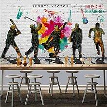 3D Backstein Tapete Mode Graffiti Sport Musik