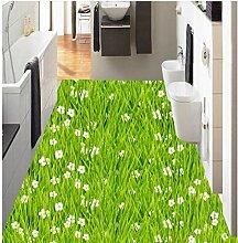3D Badezimmer Tapete Wasserdicht Rasen Gras Blumen