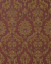 3D Barock-Tapete Präge Tapete EDEM 708-36 Bestseller HIT Hochwertig klassisch damask ornament Rot Beige Gold Platin