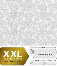 3D Barock-Tapete Vliestapete XXL EDEM 696-96 Tapete klassischer Stil mit Schnörkeln hell grau | 10,65 qm