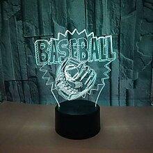 3D Baseball Lampe USB Power 7 Farben Amazing