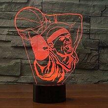 3D Basketball LED Lampe Art Deco Lampe LED Lichter