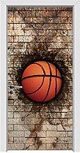 3D Basketball Tür Aufkleber Kunst Wandaufkleber