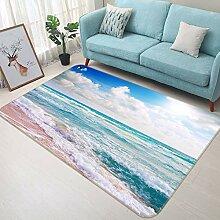 3D Beautiful Beach 699 Rutschfest Teppich Matte