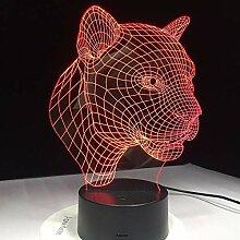 3D beleuchtung dekoration LED tischlampe USB lade