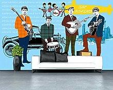 3d beliebte musikinstrumente fototapete dekoration