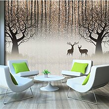 3d Benutzerdefinierte tapete Wandbild Retro Nostalgischen Wald Elk 3D TV Hintergrund Dekorative Malerei 350cmX250cm