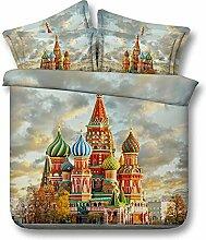 3D Bettwäsche 3 Russland Castle 3D-Druck Design