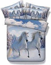 3D-Bettwäsche Snow Horse 3D-Druck Design Effekt