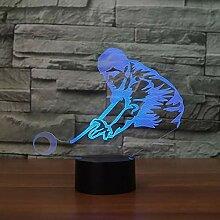 3D Billard Lampe USB Power 7 Farben Amazing