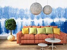 3D Blau Farbverlauf 137 Tapeten Drucken Abziehbild