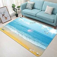 3D Blue Coast 759 Rutschfest Teppich Matte Raum