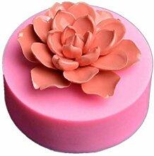 3D-Blumenseifenform, Silikon-Kuchenformen, Backen