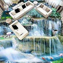 3D Boden Landschaft Tapete Fällt Lotus Teich