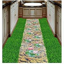3D Boden Malerei Tapete Lawn Creek Karpfen Lotus