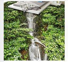 3D Bodenbelag Anpassen Tapete Stream Wasserfall