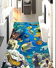 3d-bodenbelag die unterwasserwelt papel de parede
