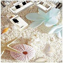 3D Bodenbelag Tapete Shell Am Strand