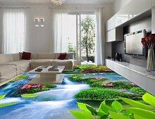 3D Bodenbelag Wasserfall 3D Tapete Anpassen