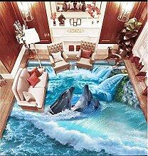 3d bodenbelag Wasserfall Delphin Wohnzimmer küche