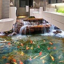 3D Bodenbild Wasserfall Tintenfisch Tapete Küche