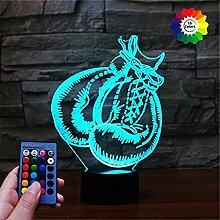 3D Boxhandschuhe Lampe Fernbedienung USB Power