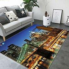 3D Brooklyn Bridge 571 Rutschfest Teppich Matte