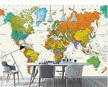 3D Bunte Weltkarte Tapete Wandbild Für Kind