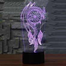 3D Campanula Optische Illusions Lampe 7 Farben