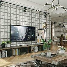 3D Chequers Vliestapete für Wohnzimmer,