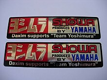 3D chrome YAMAHA YOSHIMURA SHOWA stickers decals