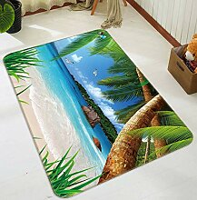 3D Coconut Palm 907 Rutschfest Teppich Matte Raum