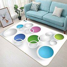 3D Color Ring 750 Rutschfest Teppich Matte Raum