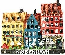 3D Copenhagen Dänemark Kühlschrankmagnet