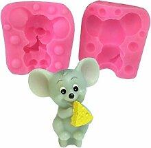 3D-Craft-Maus-silikon-Form Mousse Cake Backformen