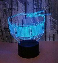 3D Creative Drum Style Nachtlicht Mehrfarben