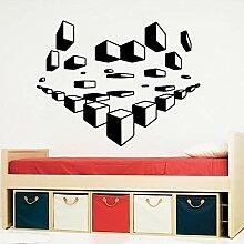 3D Cube Selbstklebende Vinyltapete Kinderzimmer