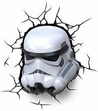 3D Deco Star Wars Stormtrooper Wall Light (With