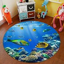3D Delphin Ozean 28 Rutschfest Teppich Matte Raum