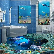 3D Delphin UnterwasserVolle Wandbild