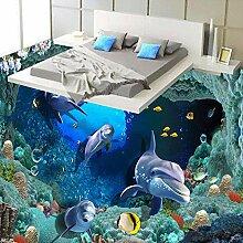 3D Delphin Unterwasser Para Volle Wandbild