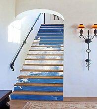 "3D Der Mond Wolke Fluss 58 Stair Risers Dekoration Fototapete Vinyl Aufkleber Tapete DE Carly (13x H:18cm x W:102cm (7""x40""))"