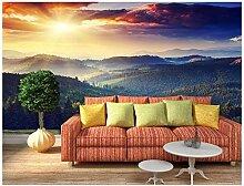 3D Der Sonnenuntergang Hills Landschaft 3D