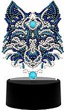 3D-Diamant-Mal-Lampe, 7 Farben, Illusionslampe,