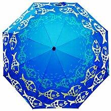 3D Digitaldruck 3 Faltender Sonnenschirm Sonnenschutz Anti-UV Regenschirm Für Frauen,PhotoColor-freesize